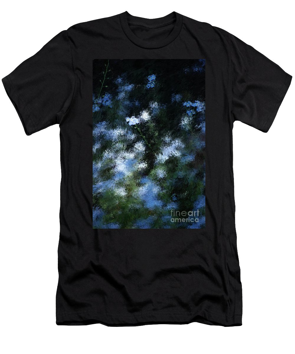 Abstract Men's T-Shirt (Athletic Fit) featuring the digital art Forget Me Not by David Lane