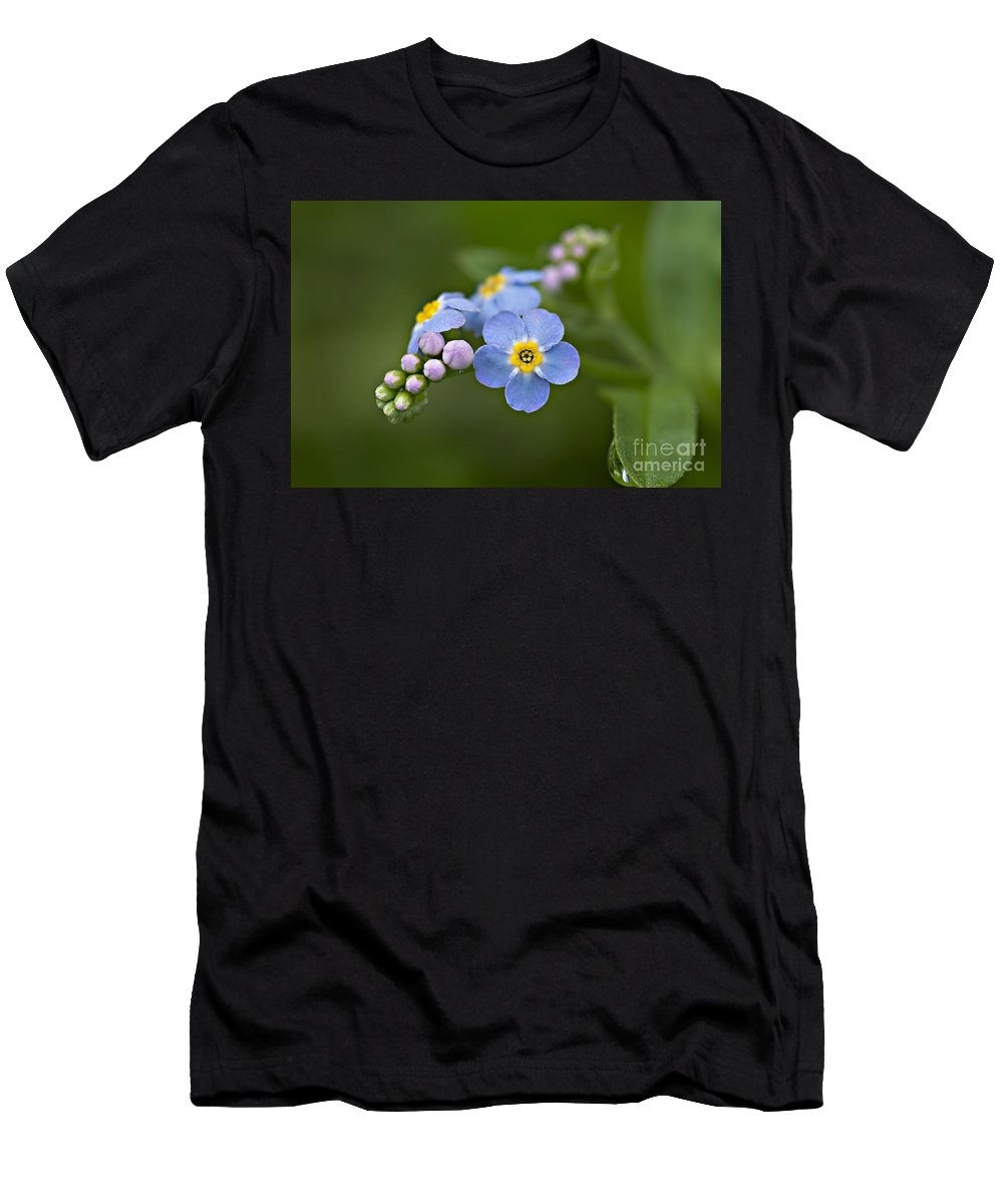 Flowers Men's T-Shirt (Athletic Fit) featuring the photograph Forget Me Not by Susan Garver