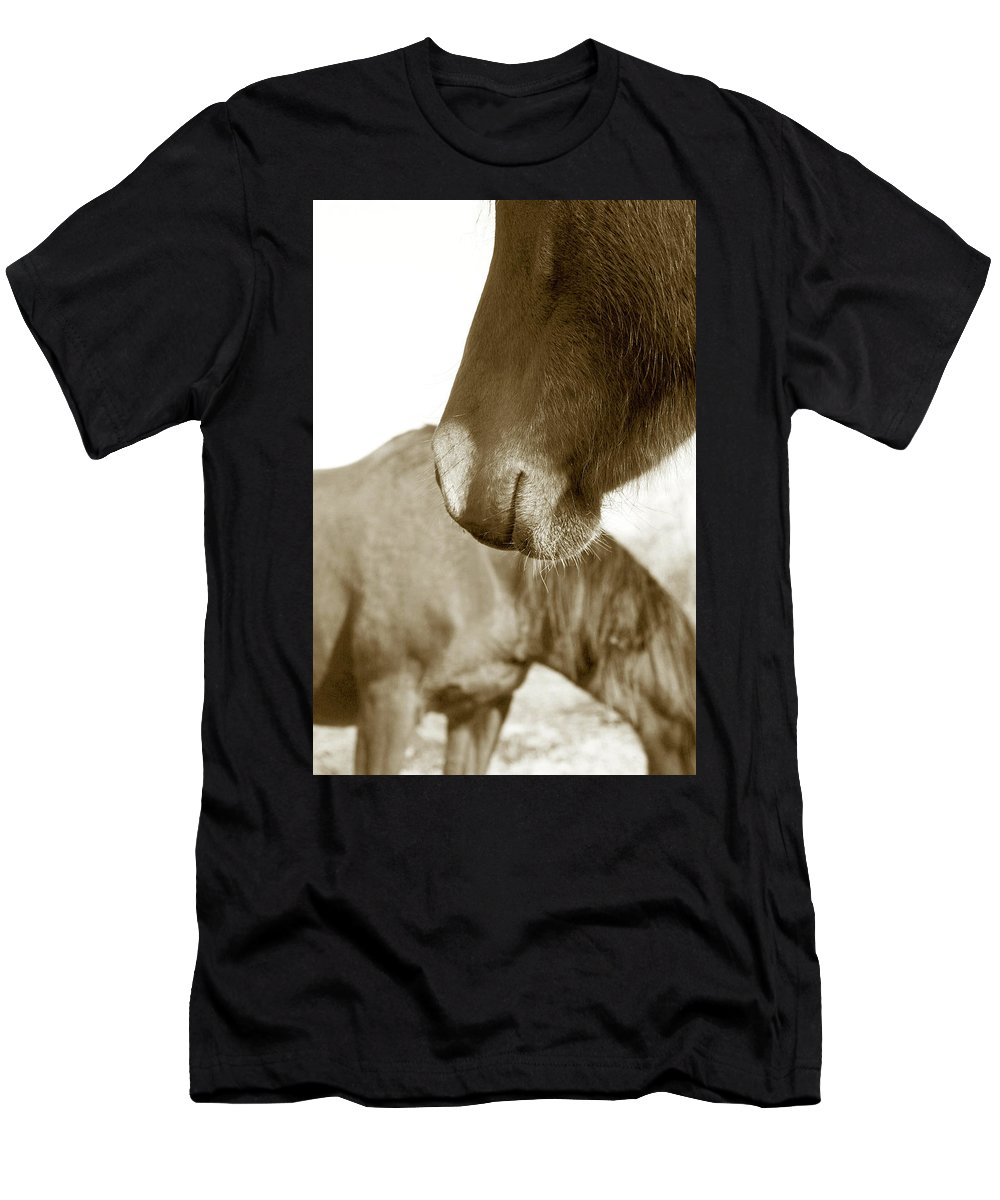 Horse Men's T-Shirt (Athletic Fit) featuring the photograph Form Of A Horse by Toni Hopper