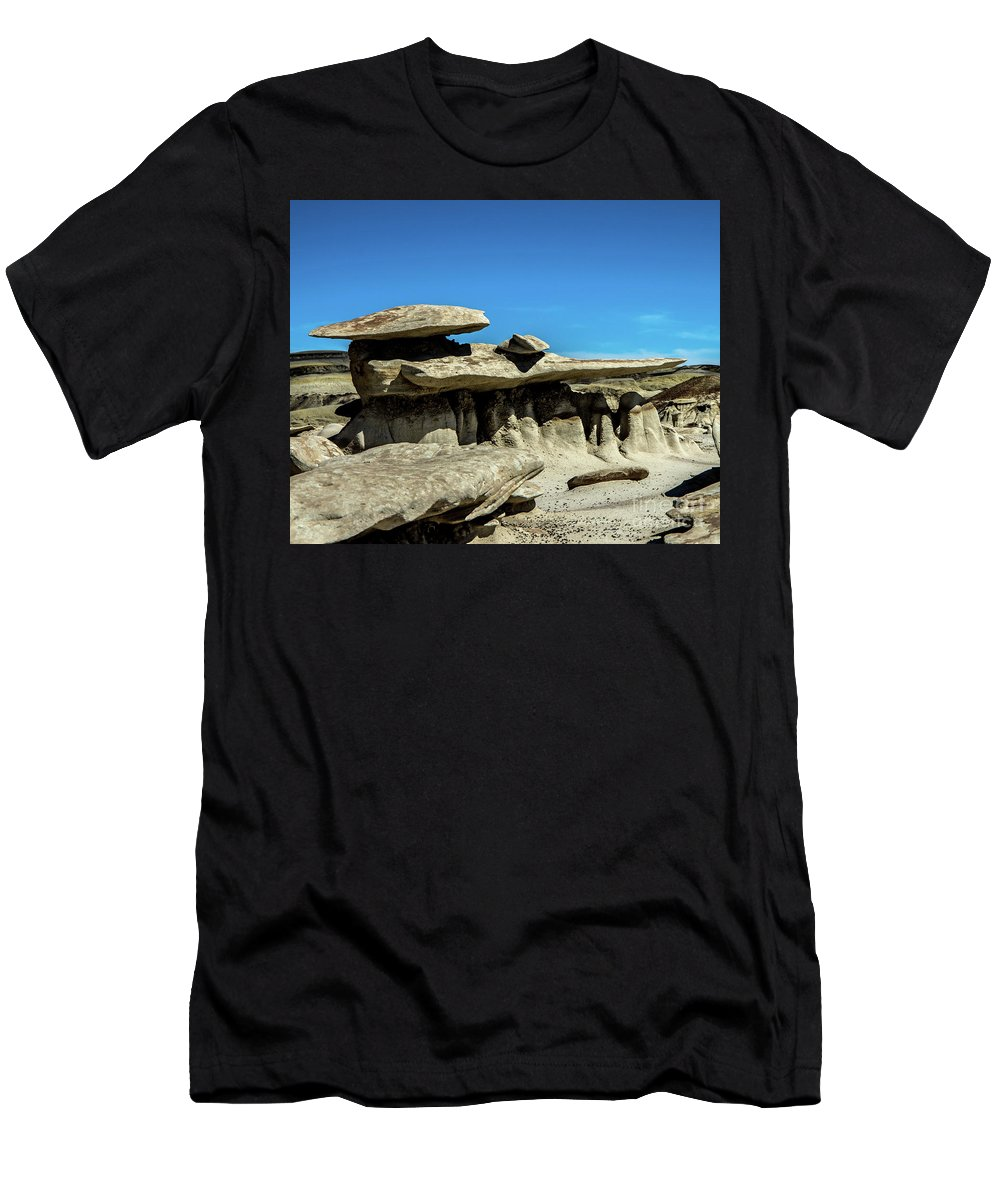Bisti Men's T-Shirt (Athletic Fit) featuring the photograph Formations by Stephen Whalen