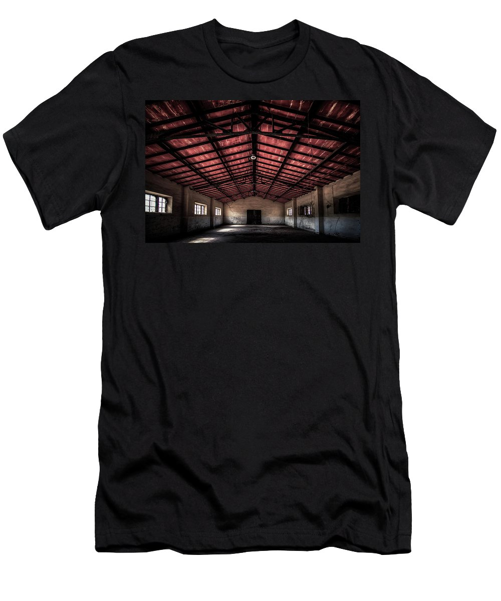 Luoghi Abbandonati Men's T-Shirt (Athletic Fit) featuring the photograph Former Cannery - Ex Conservificio II by Enrico Pelos