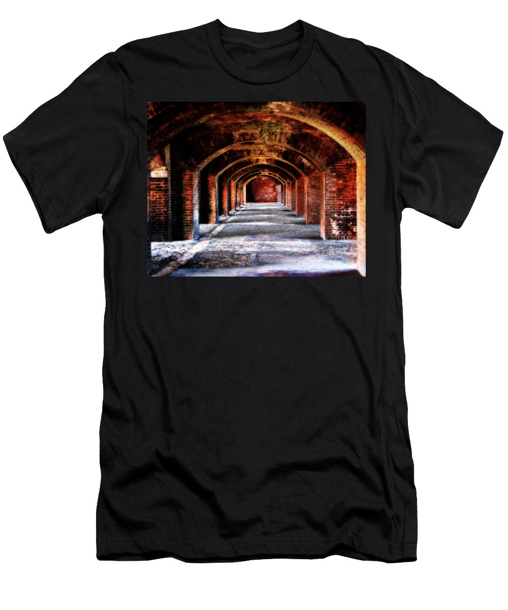 Fort Men's T-Shirt (Athletic Fit) featuring the photograph Fort Jefferson by Perry Webster