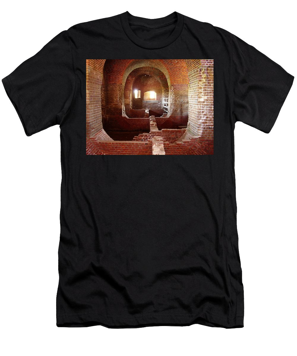 Fort Pulaski Men's T-Shirt (Athletic Fit) featuring the photograph Fort Pulaski I by Flavia Westerwelle