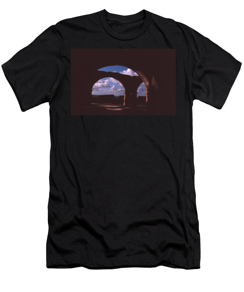Bahia Men's T-Shirt (Athletic Fit) featuring the photograph Fortaleza De Morro De Sao Paulo by Patrick Klauss