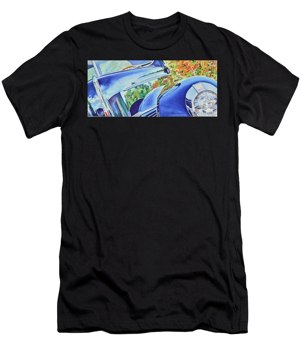 Ford Men's T-Shirt (Athletic Fit) featuring the painting Forty Ford In Fall by Rick Mock