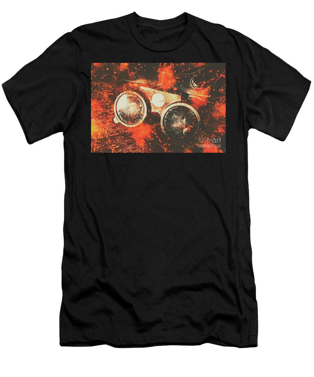 Metal Men's T-Shirt (Athletic Fit) featuring the photograph Foundry Formations by Jorgo Photography - Wall Art Gallery