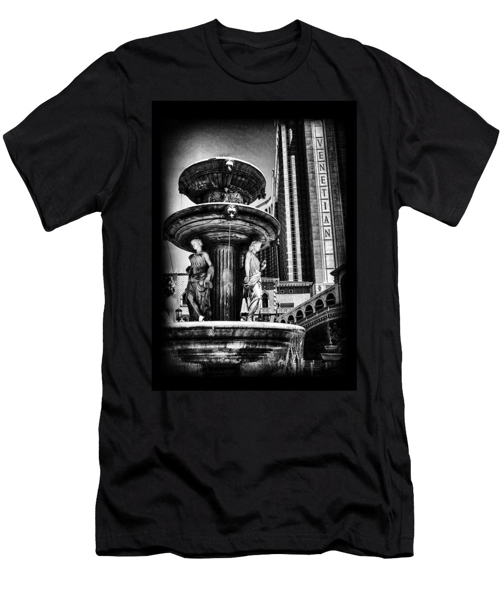 Venetian Men's T-Shirt (Athletic Fit) featuring the photograph Fountain Of Wealth by Ricky Barnard