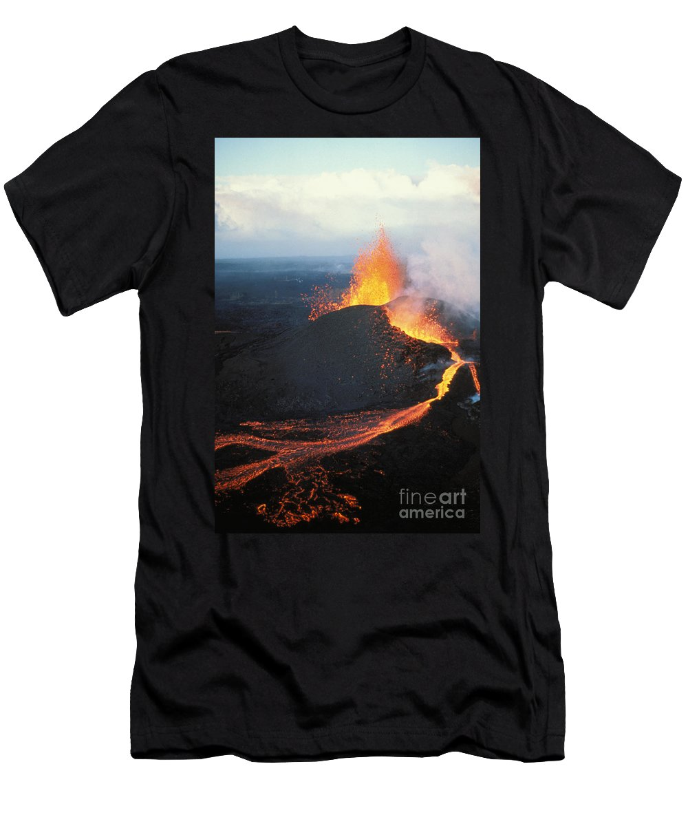 Active Men's T-Shirt (Athletic Fit) featuring the photograph Fountaining Action by Ali ONeal - Printscapes