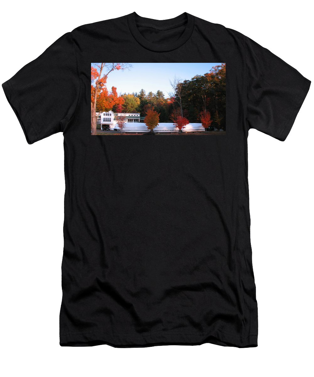 Four Bushes Men's T-Shirt (Athletic Fit) featuring the photograph Four Bushes by Michael Mooney