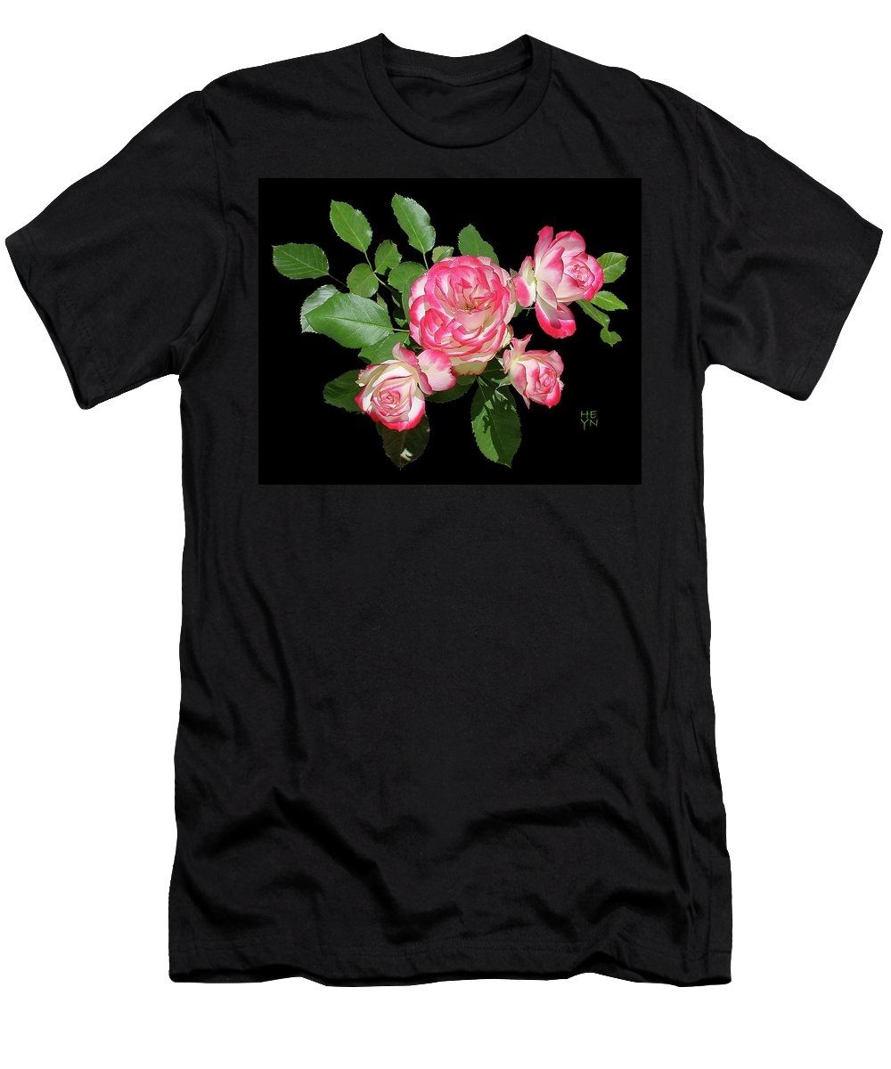 Cutout Men's T-Shirt (Athletic Fit) featuring the photograph Four Roses Cutout by Shirley Heyn