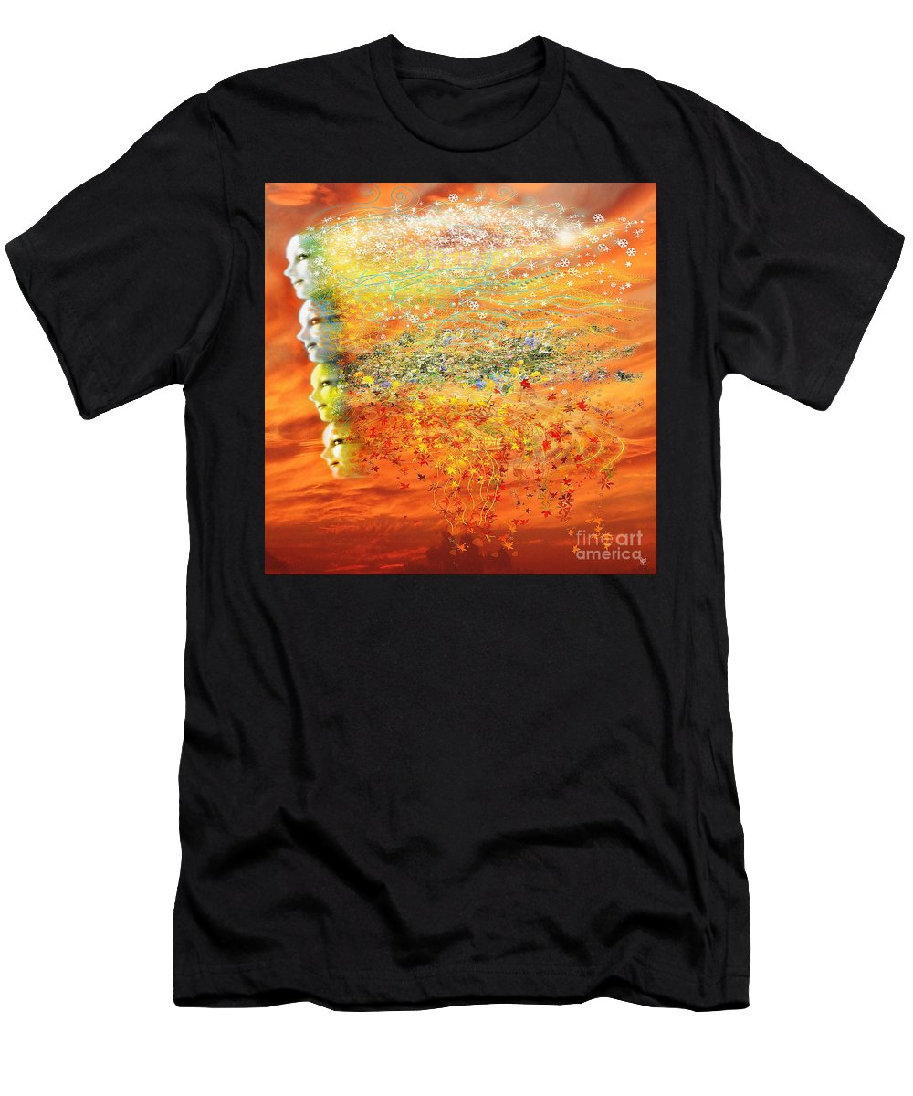 Seasons Men's T-Shirt (Athletic Fit) featuring the digital art Four Seasons Winds by Neil Finnemore