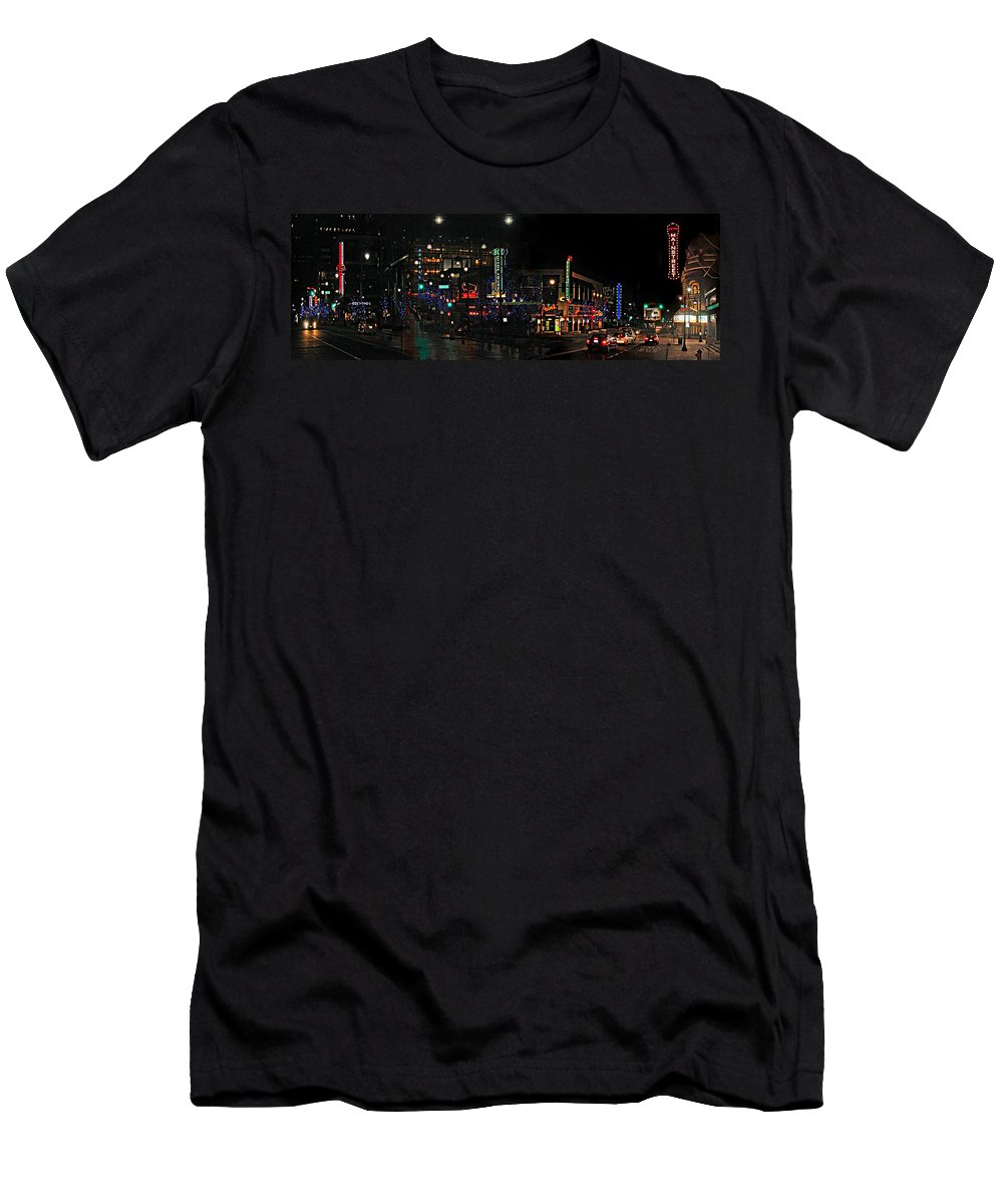 City Scape T-Shirt featuring the photograph Fourteenth and Main by Steve Karol