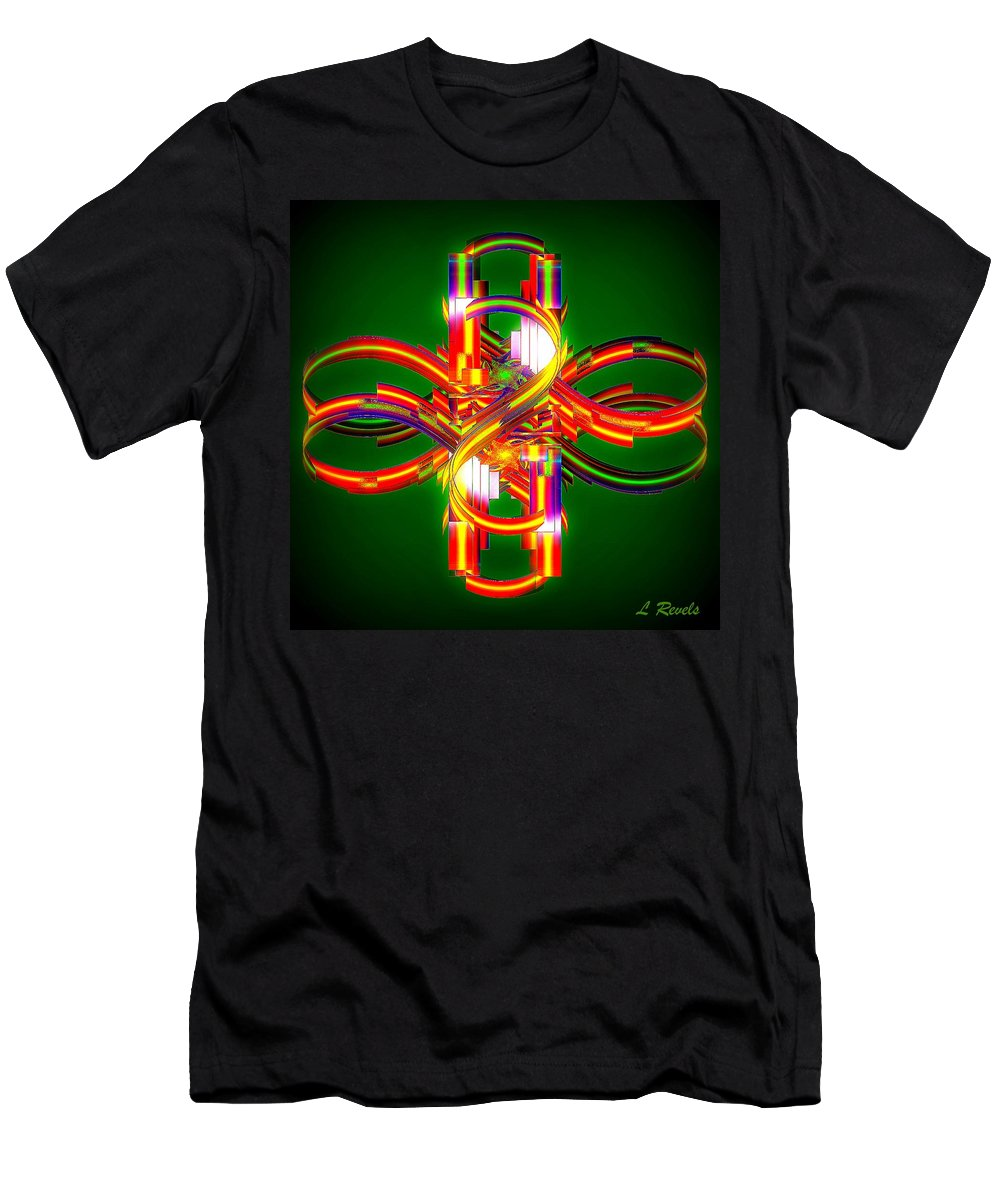 Digital Men's T-Shirt (Athletic Fit) featuring the digital art Fourth Dimension by Leslie Revels