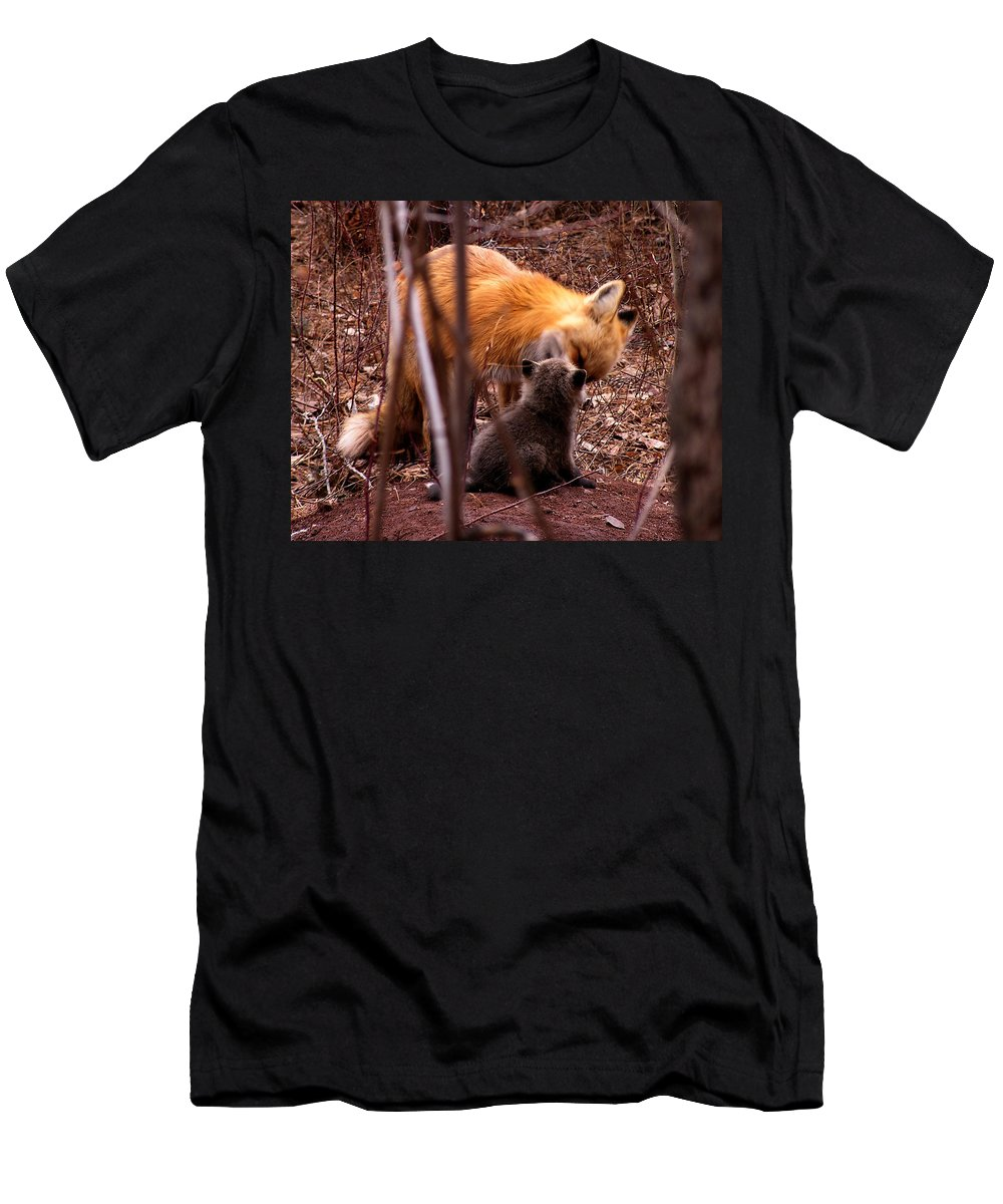 Fox Men's T-Shirt (Athletic Fit) featuring the photograph Fox by Carol Milisen