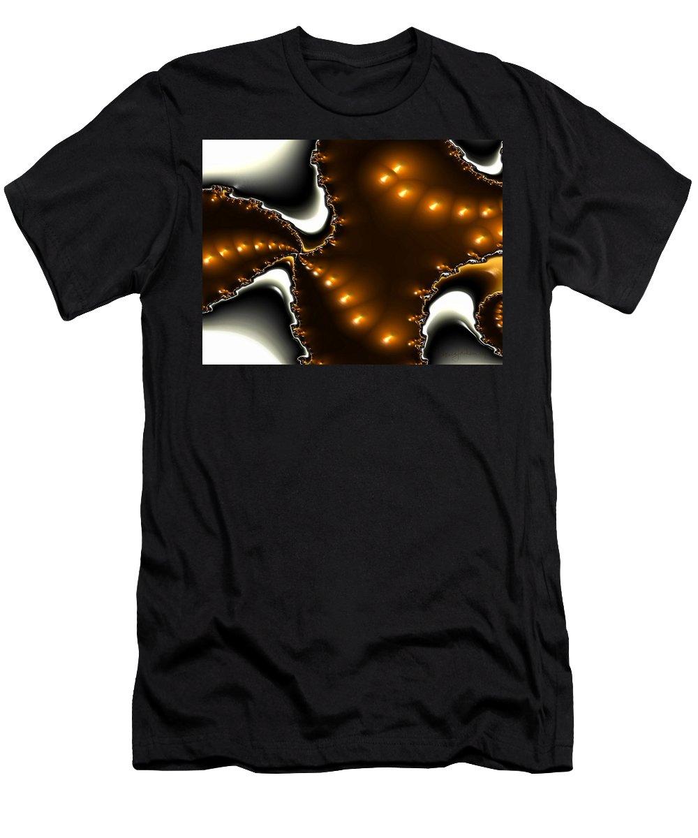Nest Eggs Fractals Jewels Men's T-Shirt (Athletic Fit) featuring the digital art Fractal 2 by Veronica Jackson