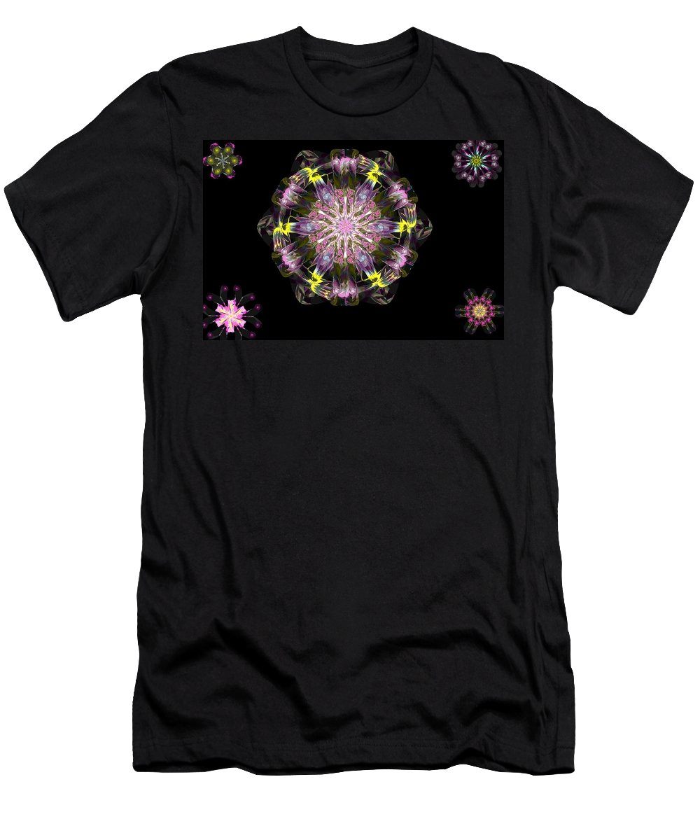 Digital Painting T-Shirt featuring the digital art Fractal Flowers 10-20-09 by David Lane