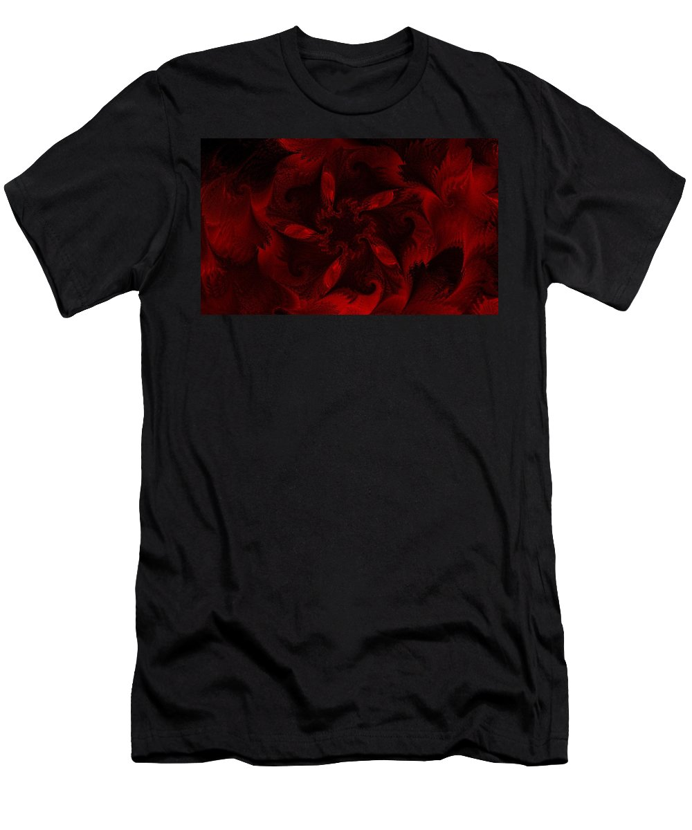 Abstract Digital Painting Men's T-Shirt (Athletic Fit) featuring the digital art Fractal Garden 18 by David Lane