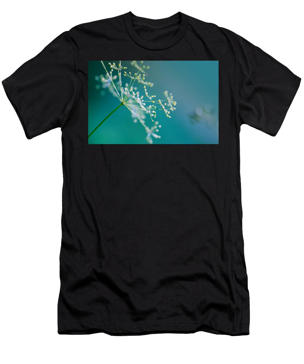 Dill Men's T-Shirt (Athletic Fit) featuring the photograph Fragile Dill Umbels by Nailia Schwarz