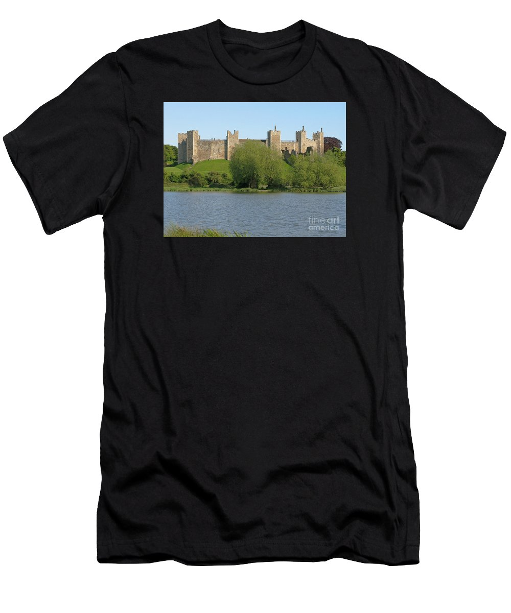 England Men's T-Shirt (Athletic Fit) featuring the photograph Framlingham Castle by Ann Horn