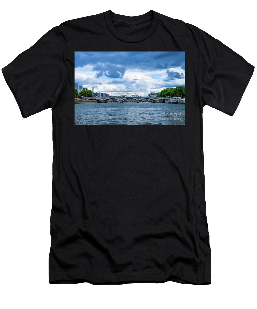Men's T-Shirt (Athletic Fit) featuring the painting France Nature by Shady Magdy