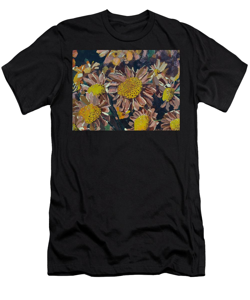 Recycle T-Shirt featuring the painting Francescas Mums by Leah Tomaino
