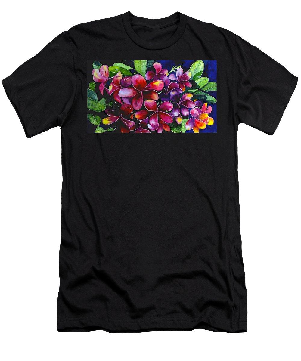 Frangipanni Men's T-Shirt (Athletic Fit) featuring the painting Frangipanni by Georgia Mansur