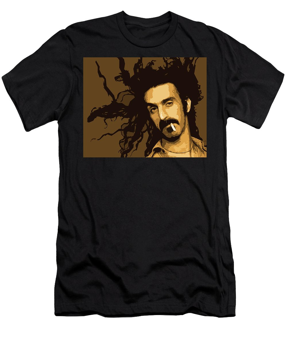Frank Men's T-Shirt (Athletic Fit) featuring the digital art Frank Zappa by Zelko Radic Bfvrp
