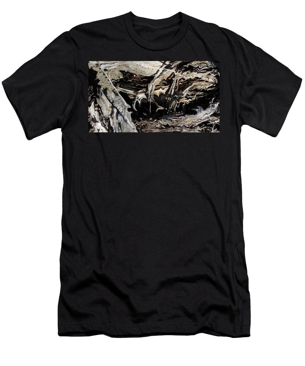 Abstract Art T-Shirt featuring the photograph Frayed and Distracted Thoughts by Stephanie H Johnson
