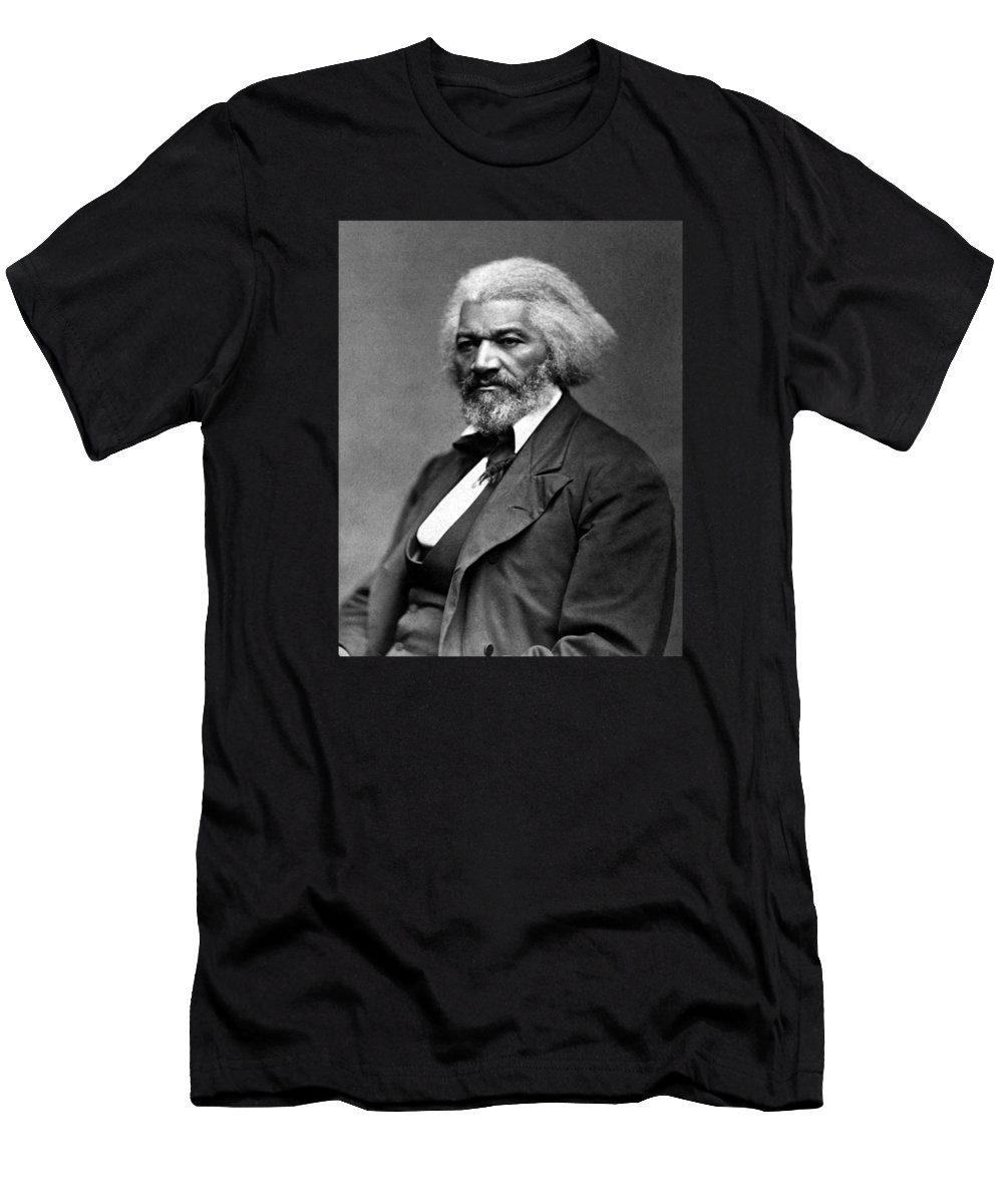Frederick Douglass Men's T-Shirt (Athletic Fit) featuring the photograph Frederick Douglass Photo by War Is Hell Store
