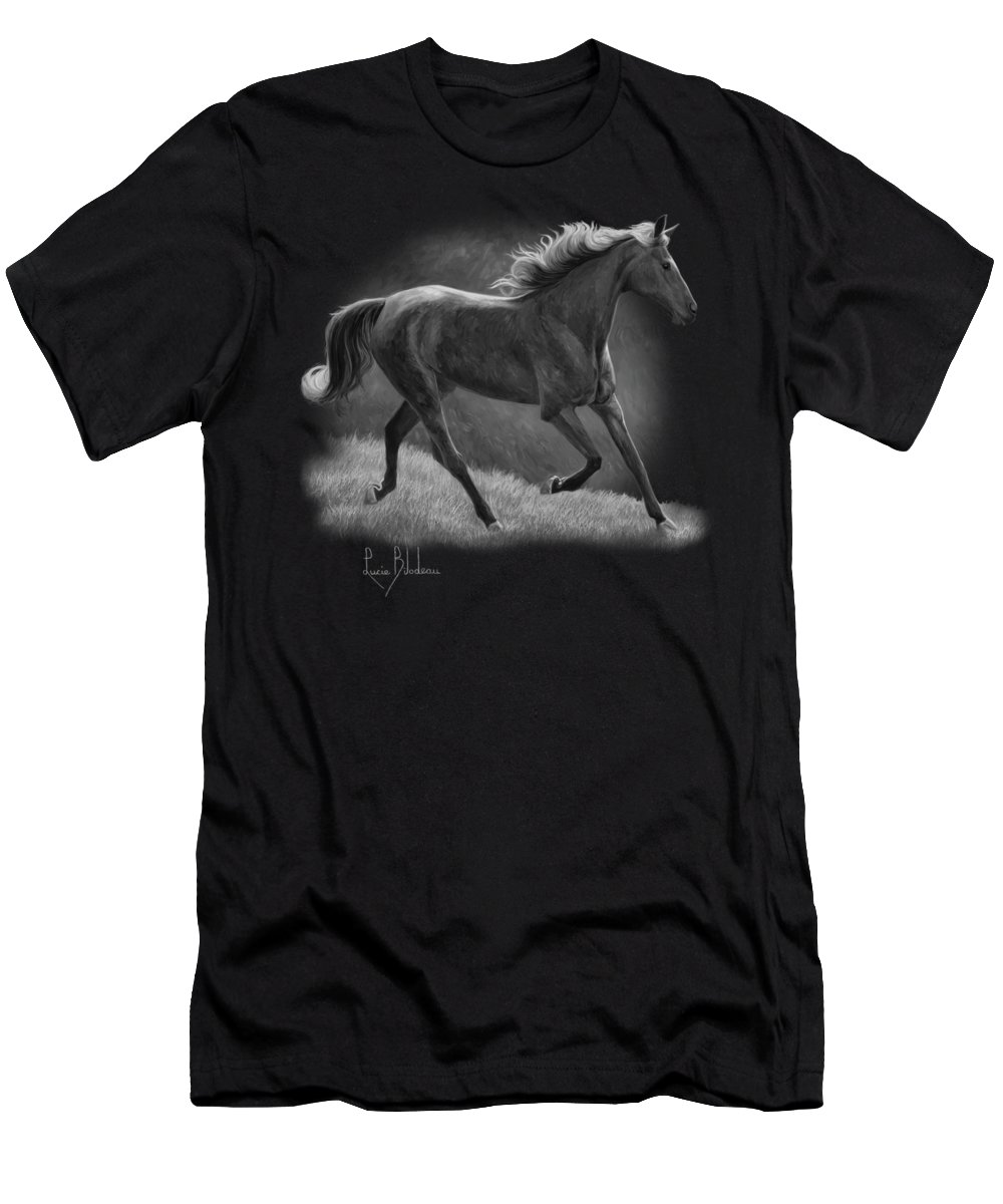 Black And White Horse T-Shirts