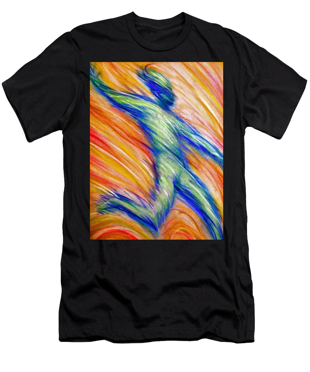 Men's T-Shirt (Athletic Fit) featuring the drawing Free Fall by Jan Gilmore