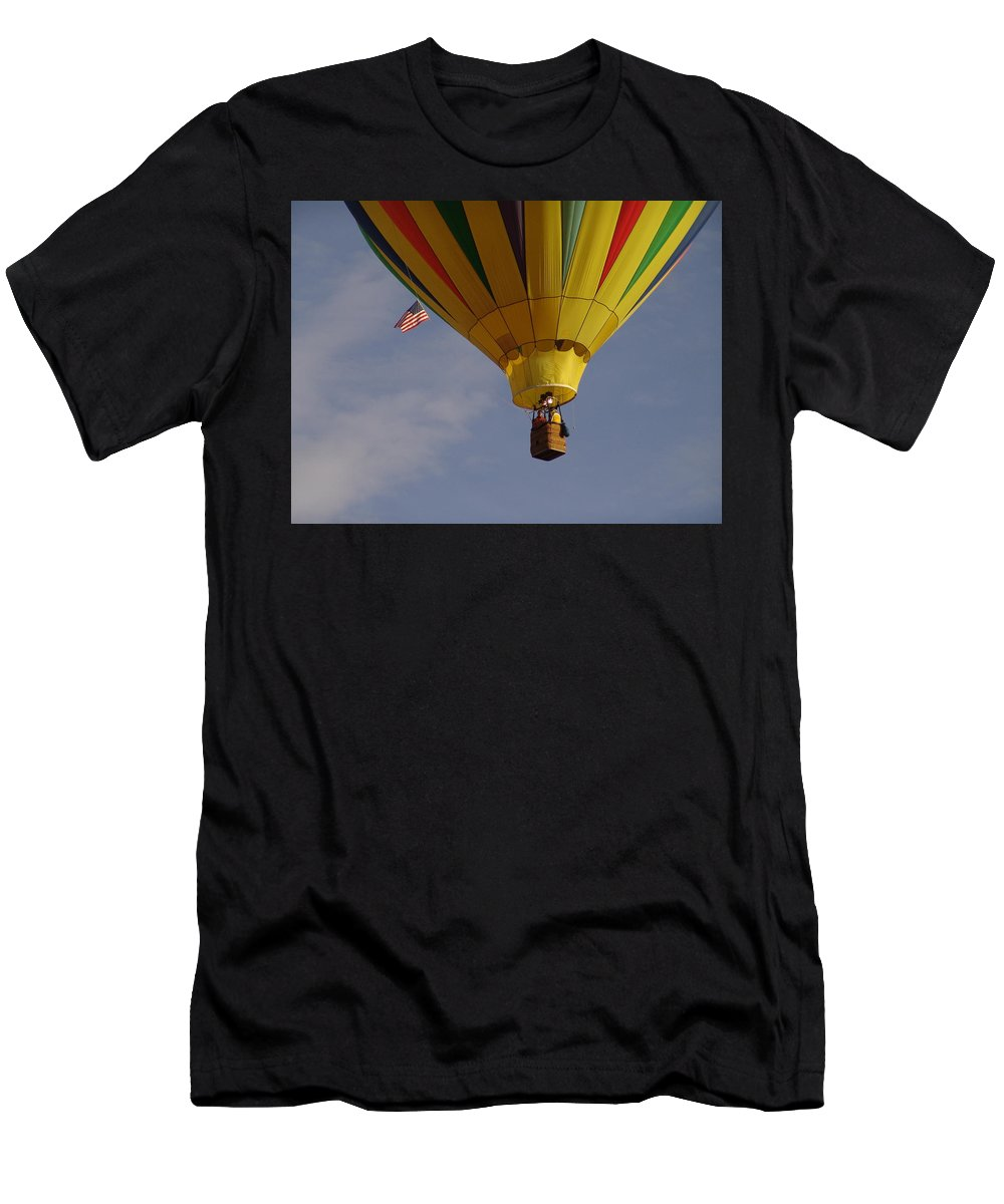 Balloon Men's T-Shirt (Athletic Fit) featuring the photograph Freedom by Carol Milisen