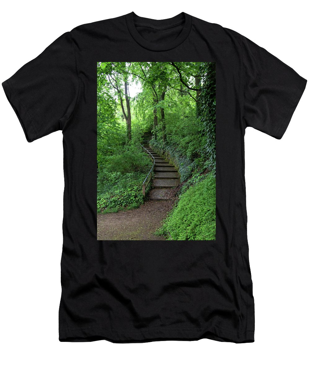 Freiburg Germany Men's T-Shirt (Athletic Fit) featuring the photograph Freiburg Steps Up by Robert VanDerWal