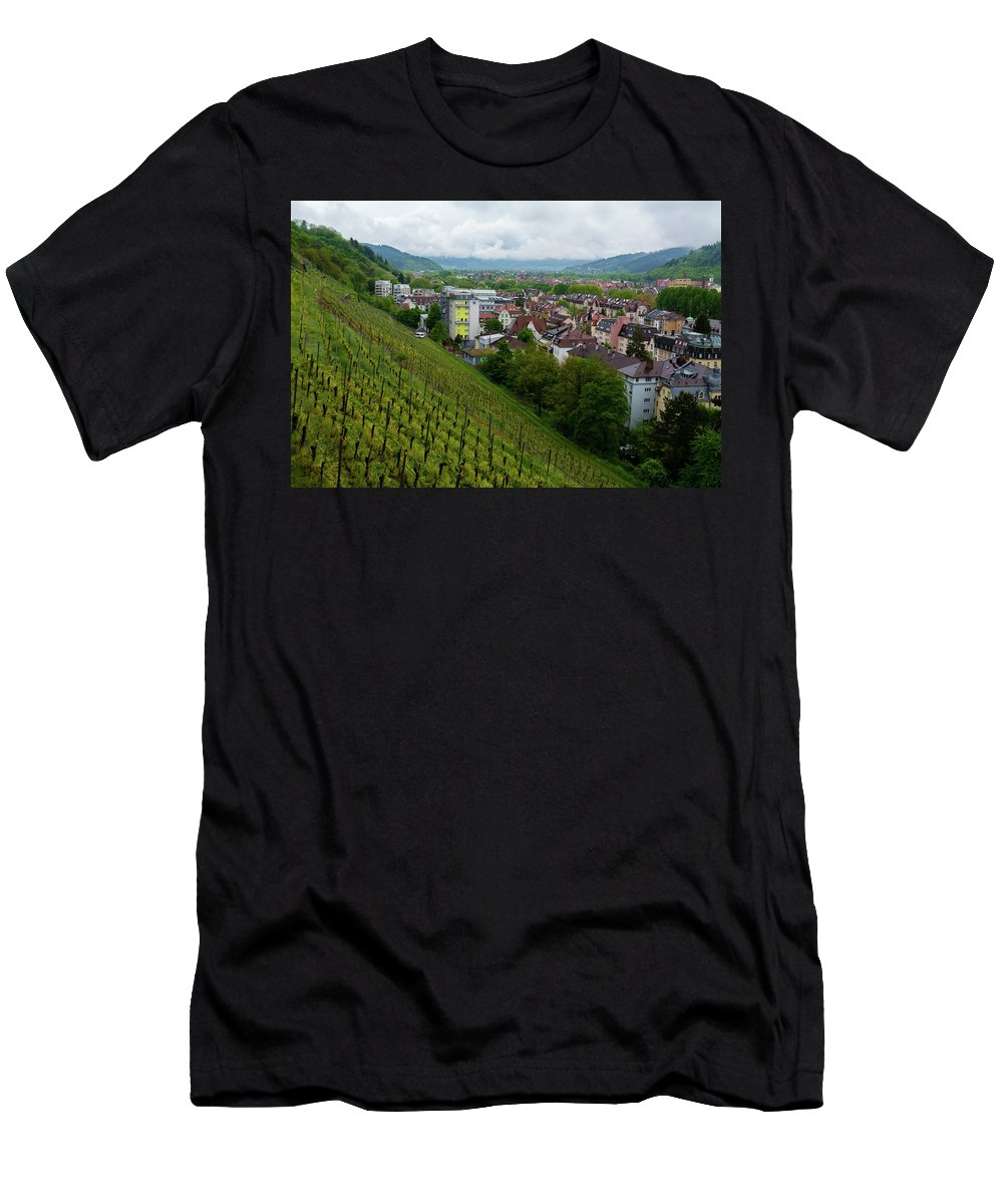 Freiburg Germany Men's T-Shirt (Athletic Fit) featuring the photograph Freiburg Wine Sloop by Robert VanDerWal