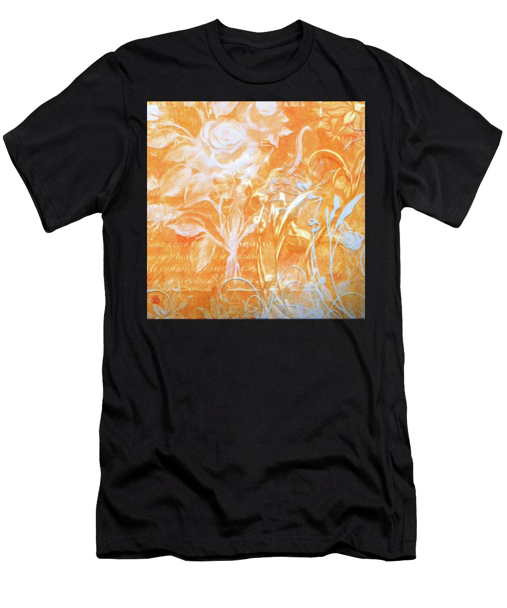 Digital Art Men's T-Shirt (Athletic Fit) featuring the digital art French Floral 2 by Bonnie Bruno