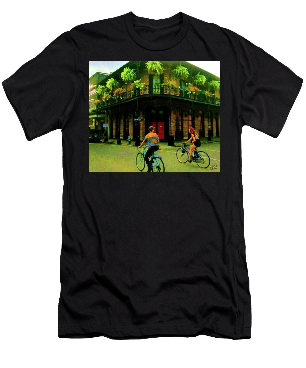 New Or Lens Men's T-Shirt (Athletic Fit) featuring the photograph French Quarter Flirting On The Go by CHAZ Daugherty