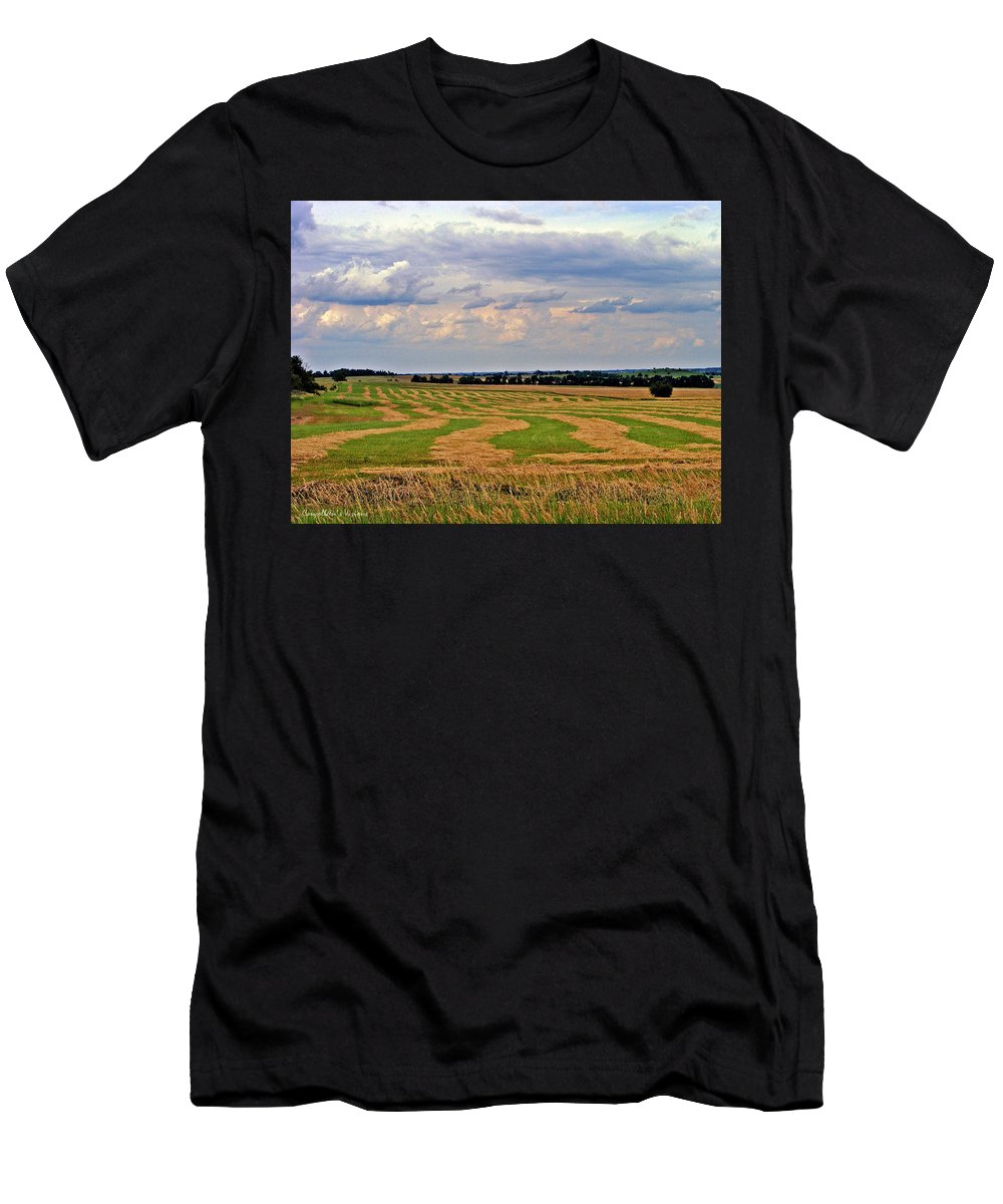 Kansas Men's T-Shirt (Athletic Fit) featuring the photograph Fresh Cut by Concolleen's Visions Smith