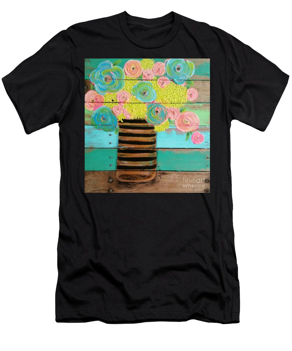Flowers Men's T-Shirt (Athletic Fit) featuring the painting Fresh Picked by Jennifer Russell