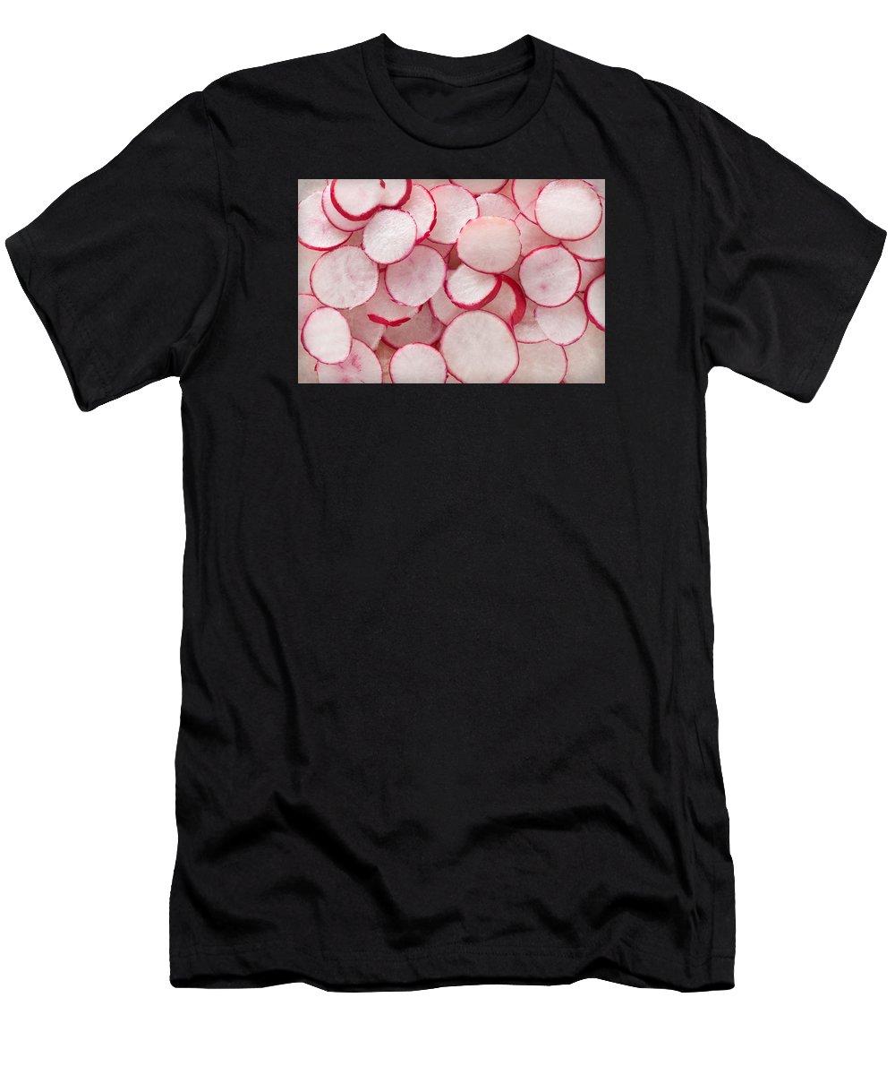 Radish Men's T-Shirt (Athletic Fit) featuring the photograph Fresh Radishes by Steve Gadomski