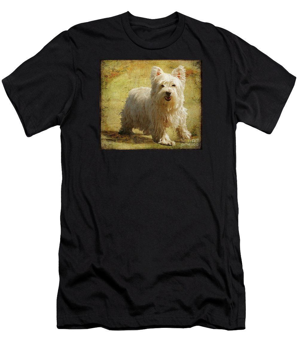 Dogs Men's T-Shirt (Athletic Fit) featuring the photograph Friendly Smile by Lois Bryan