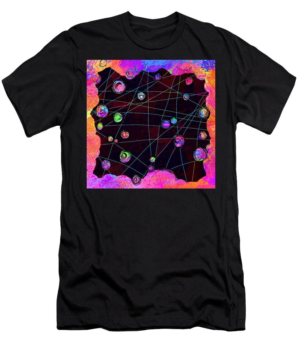 Abstract T-Shirt featuring the digital art Friends by William Russell Nowicki