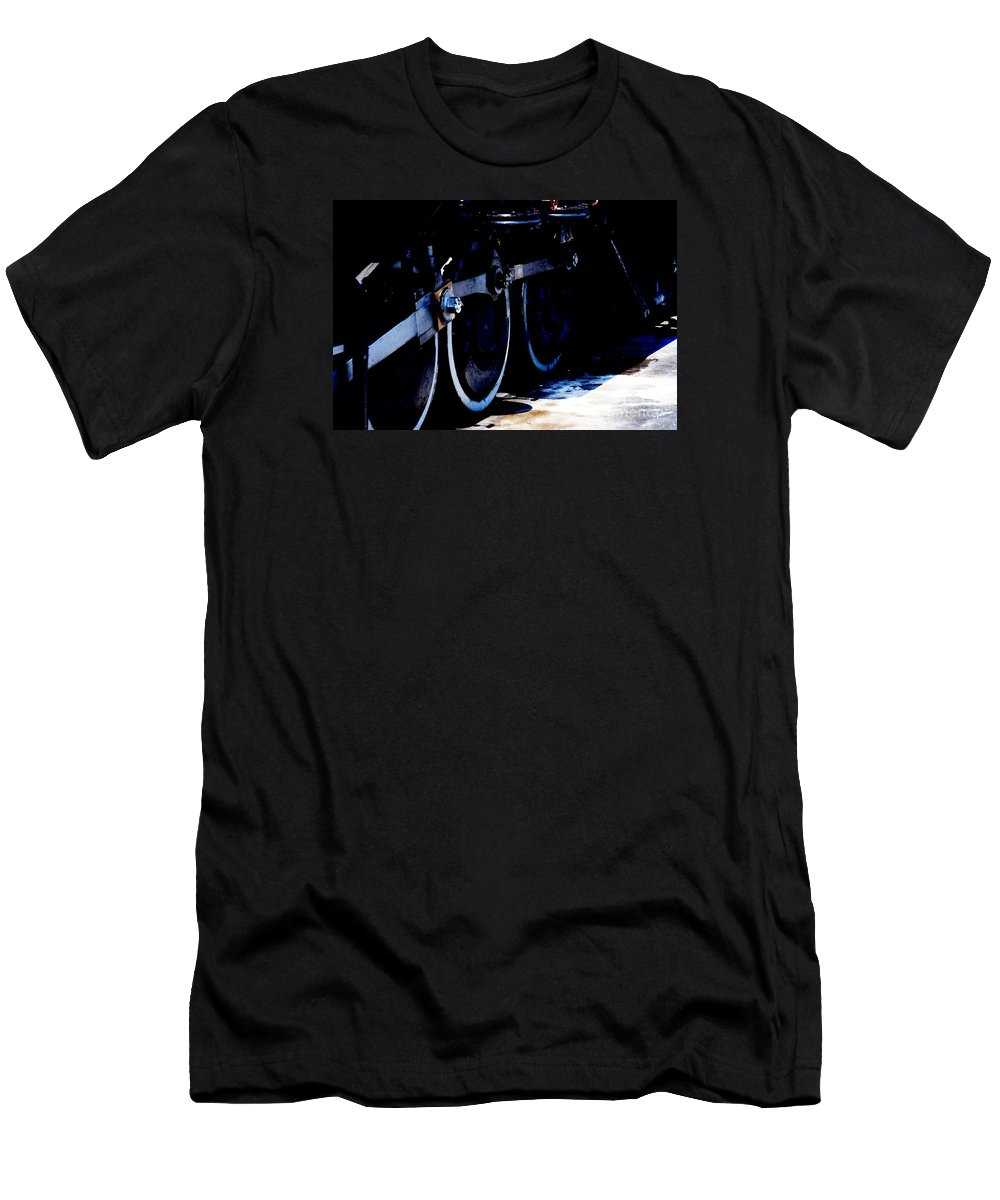 Blue Men's T-Shirt (Athletic Fit) featuring the photograph From Ridgway To Durango by Linda Shafer