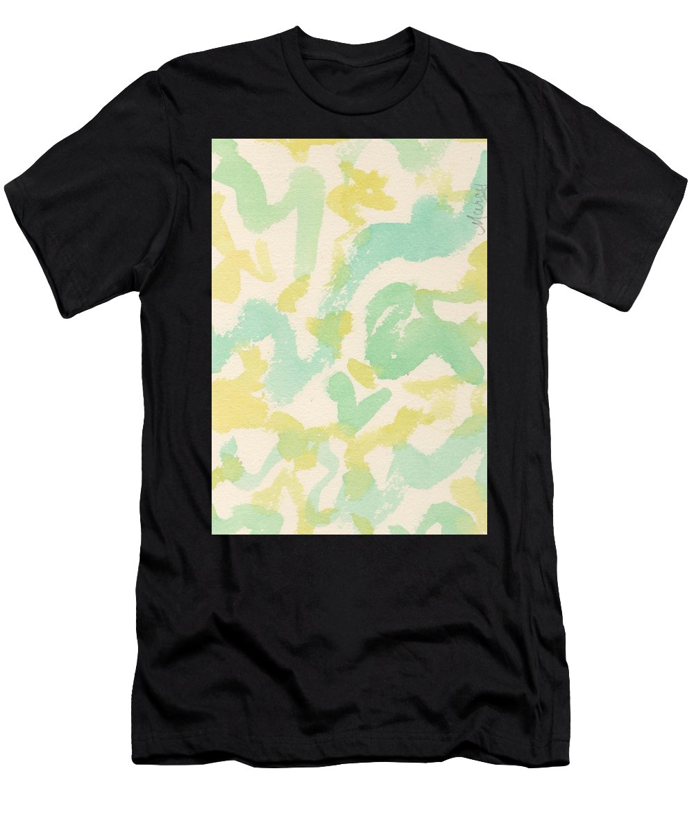 Watercolor Men's T-Shirt (Athletic Fit) featuring the painting From The Air by Marcy Brennan