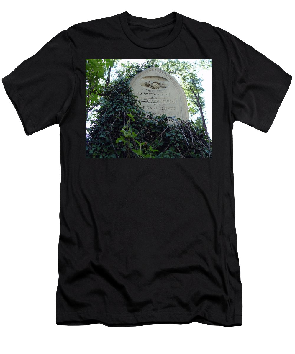 From The Grave Men's T-Shirt (Athletic Fit) featuring the photograph From The Grave No3 by Peter Piatt