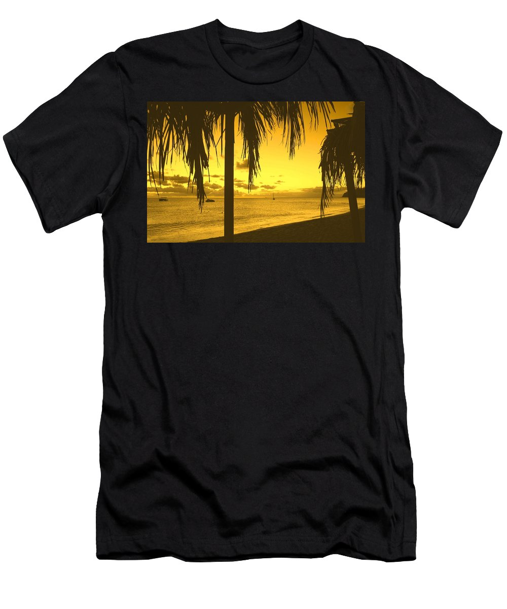 Sunset Men's T-Shirt (Athletic Fit) featuring the photograph From The Shiggady Shack by Ian MacDonald