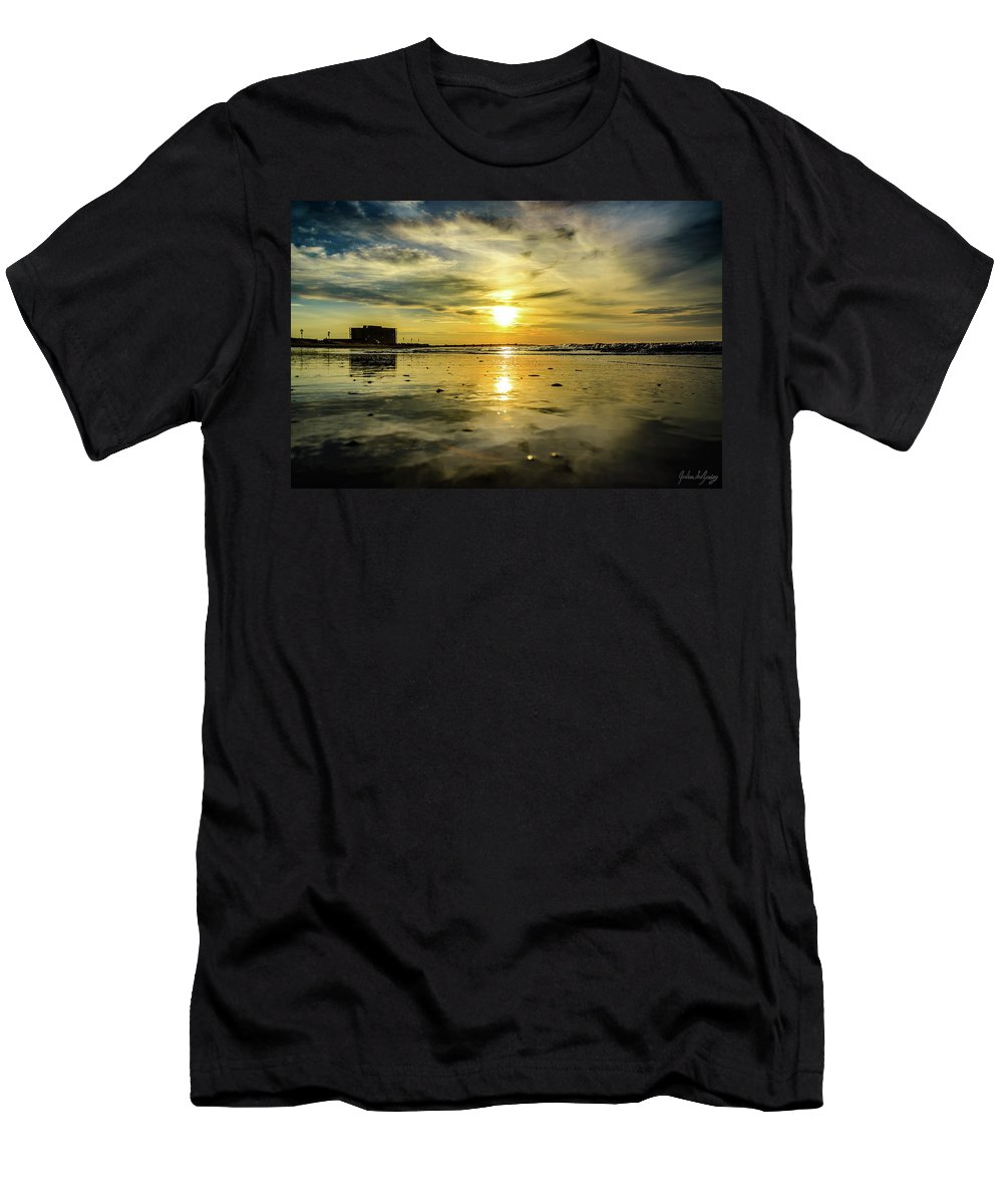 J. Zaring Men's T-Shirt (Athletic Fit) featuring the photograph From The Surface by Joshua Zaring