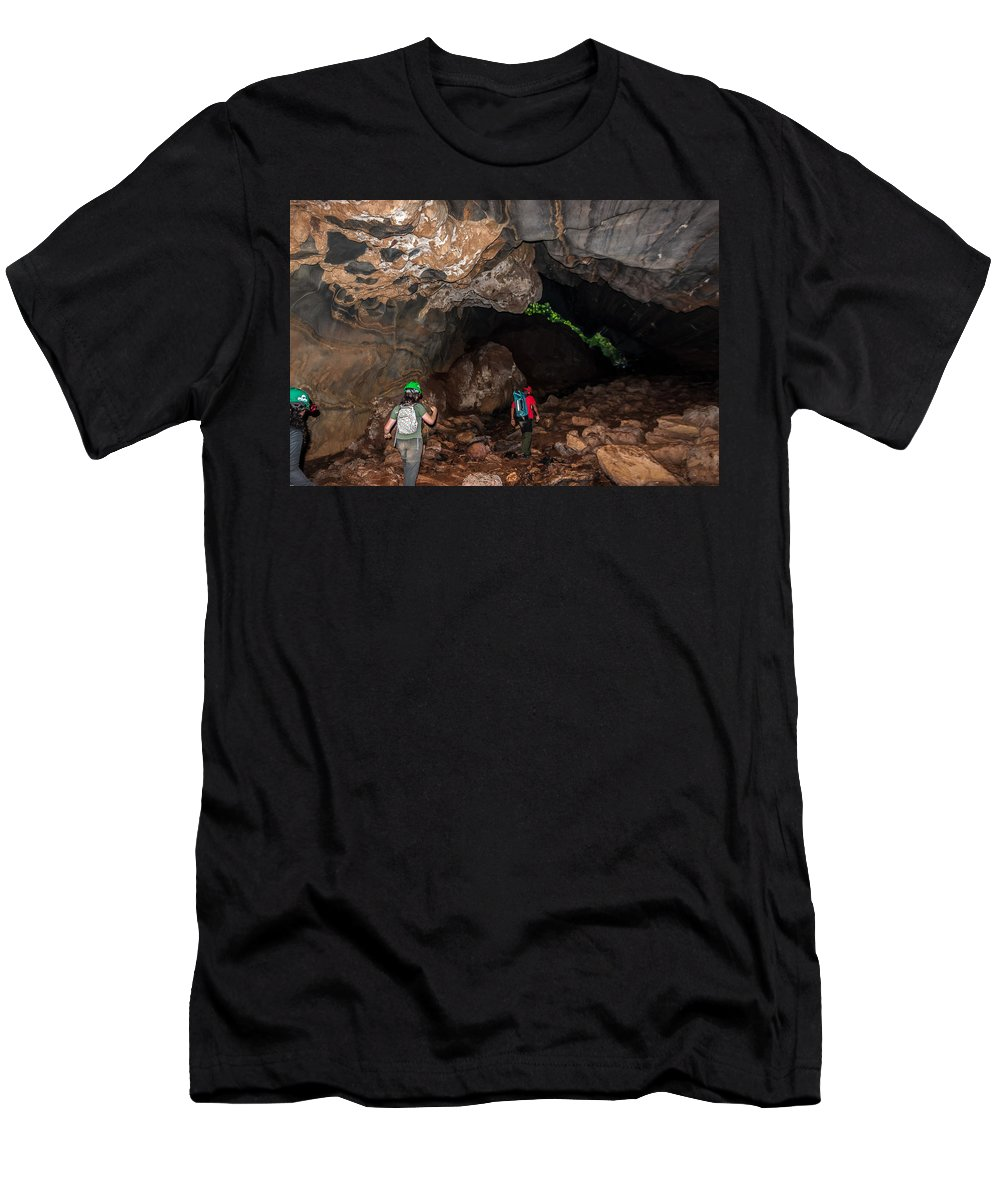 Cave Men's T-Shirt (Athletic Fit) featuring the photograph From Within-4 by Fabio Giannini