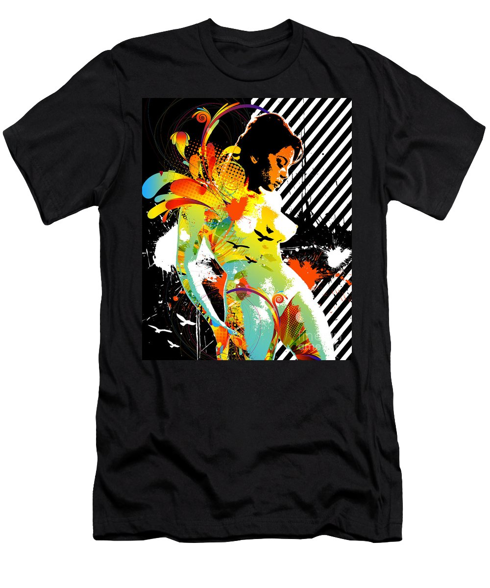 Nostalgic Seduction Men's T-Shirt (Athletic Fit) featuring the digital art From Within by Chris Andruskiewicz