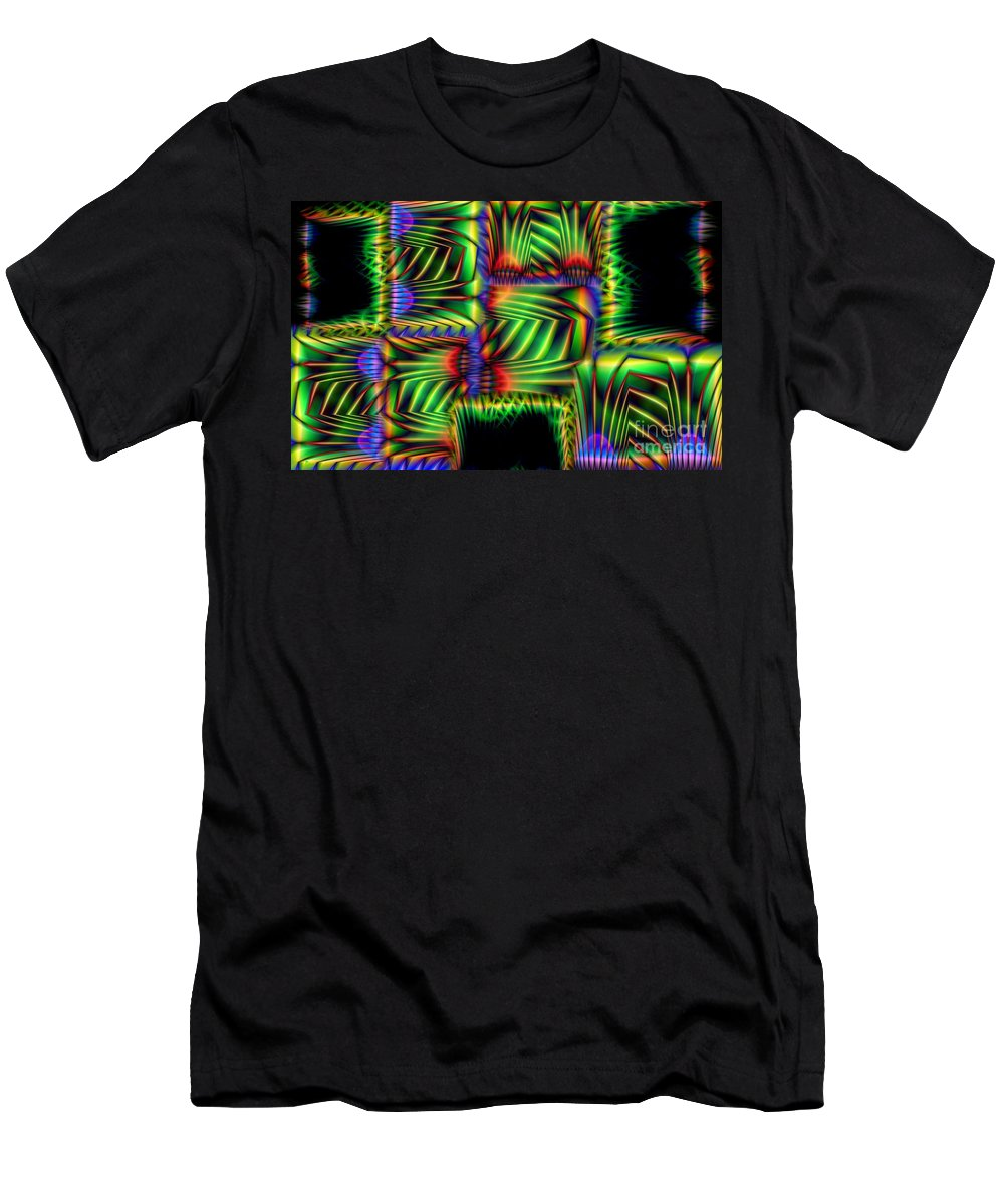 Abstract T-Shirt featuring the digital art Frond Collage by Ron Bissett