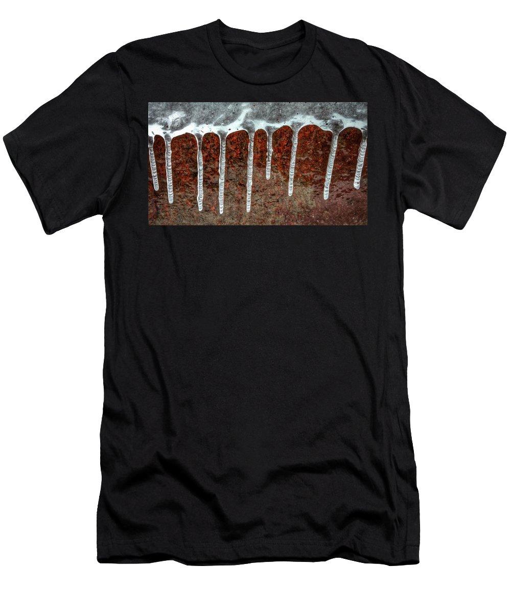 Men's T-Shirt (Athletic Fit) featuring the photograph Frozen Along Her Shores by Scott Wendt Tom Wierciak